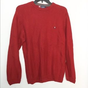 Chaps M Sweater Red Pullover Crewneck EUC